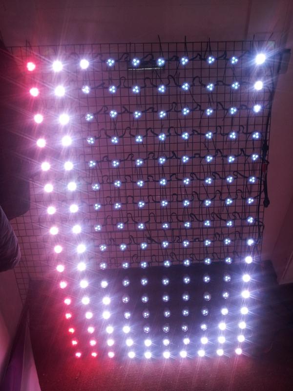 christmas light pixel matrix. Black Bedroom Furniture Sets. Home Design Ideas